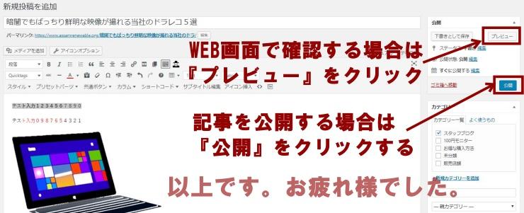ワードプレス書き方解説おyレビュー公開